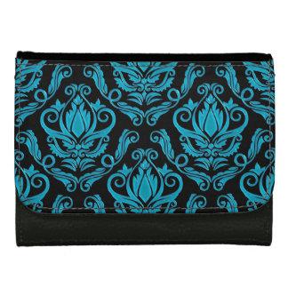 Turquoise élégante et portefeuille noir