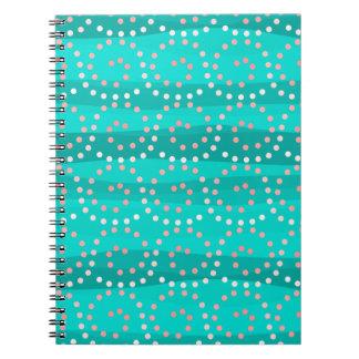 Turquoise et carnet de vagues de corail
