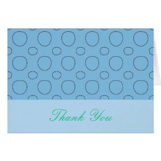 Turquoise et carte de remerciements bleu