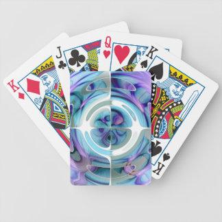 Turquoise et collage abstrait de pourpre cartes à jouer