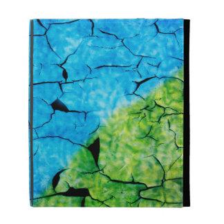 Turquoise et folio vert d'iPad de craquement de Fa Coques iPad