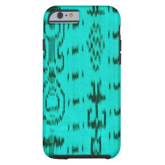Turquoise et ikat noir coque tough iPhone 6