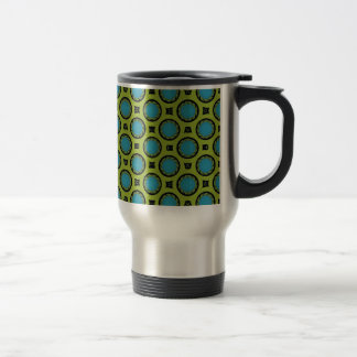 Turquoise et jaune mug de voyage