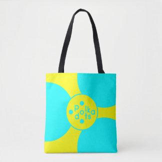 Turquoise et milieu jaune tout plus de - imprimez sac
