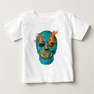 Turquoise flambant Skullturq T-shirt Pour Bébé