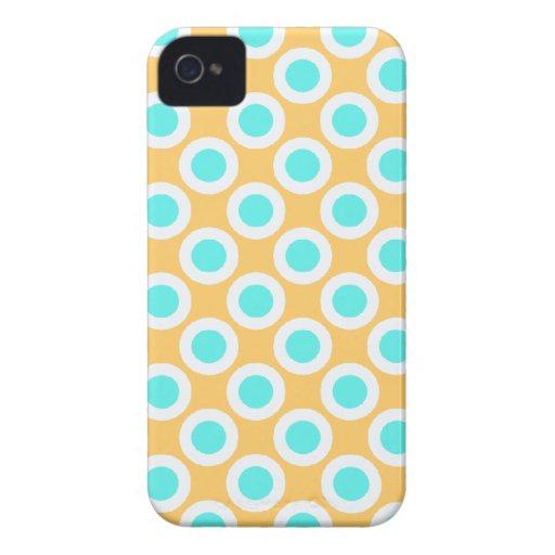 Turquoise orange - rétro cas de l'iPhone 4 de poin Coque iPhone 4 Case-Mate