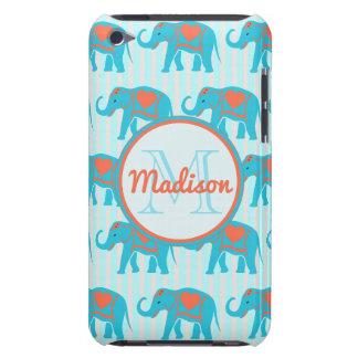 Turquoise turquoise, éléphants bleus, nom de étui barely there iPod