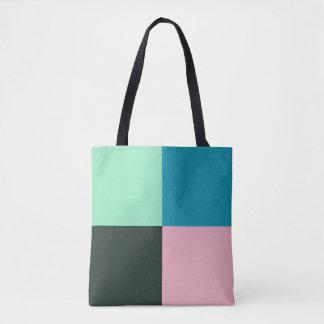 Turquoise vert-bleu turquoise rose d'Aqua de Tote Bag