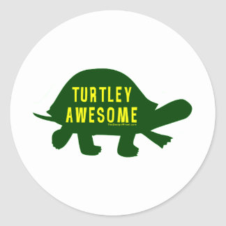 Turtley totalement impressionnant sticker rond