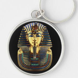Tutankhamun Porte-clé Rond Argenté