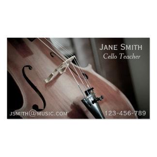 Tuteur de musique d instrument de ficelle de cartes de visite professionnelles