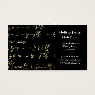 Tuteur/professeur de maths de tableau noir cartes de visite