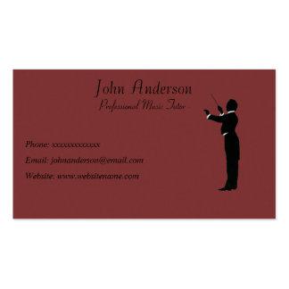 Tuteur professionnel de musique - chef d'orchestre carte de visite standard