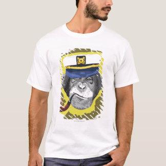 Tuyau de tabagisme de chimpanzé t-shirt