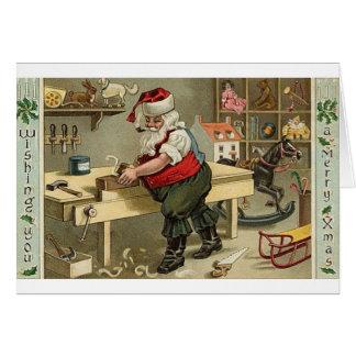 Tuyau vintage fumant la carte de voeux de Noël de