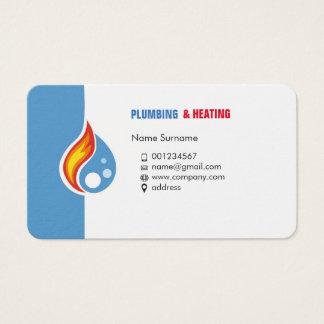 Tuyauterie et chauffage. Carte de visite pour le