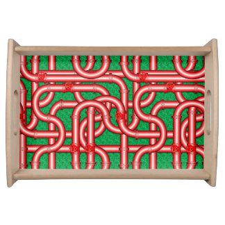 tuyaux 3D tissés métalliques servant le plateau