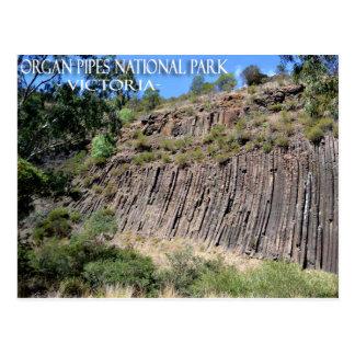 Tuyaux d'organe parc, carte postale de Victoria,
