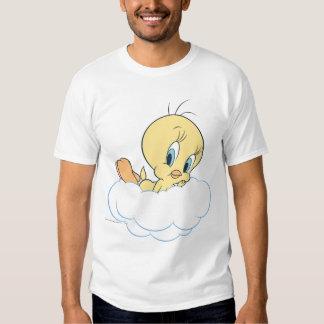 Tweety dans la pose 3 de nuages t-shirts