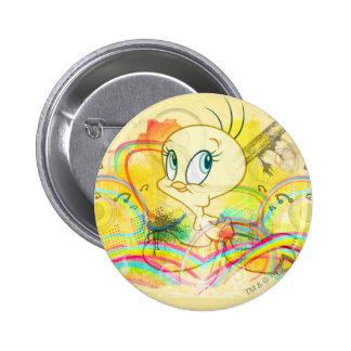 Tweety en arcs-en-ciel badge rond 5 cm
