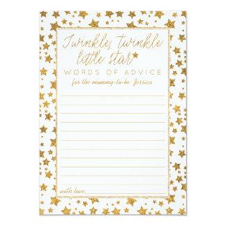 Twink, scintillement peu de conseil de baby shower carton d'invitation  11,43 cm x 15,87 cm