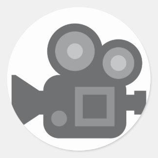 Twitter Emoji - Camera film making Autocollant Rond