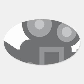 Twitter Emoji - Camera film making Sticker Ovale