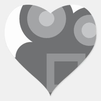 Twitter Emoji - Camera film making Autocollants En Cœur