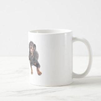 two rottweilers, mug