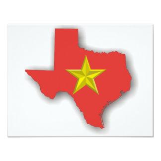 TX un état rouge Carton D'invitation 10,79 Cm X 13,97 Cm