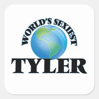 Tyler le plus sexy du monde autocollant carré