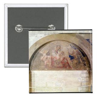 Tympan dépeignant la Vierge de l'humilité Badge Carré 5 Cm