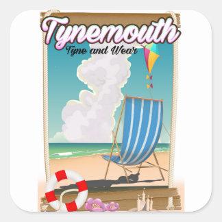 Tynemouth Tyne and Wear, affiche de voyage Sticker Carré