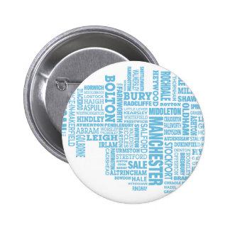 Type bleu carte de plus grand Manchester Badge