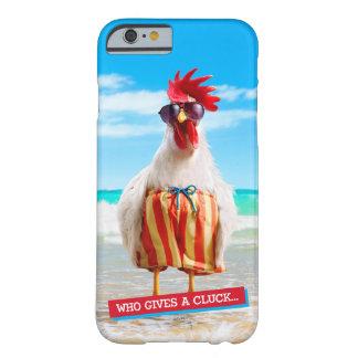 Type Chillin de coq à la plage dans des troncs de Coque iPhone 6 Barely There