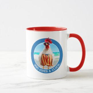 Type Chillin de coq à la plage dans des troncs de Mugs