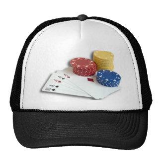 type de famille, mortel, jouer-carte-puces casquette trucker