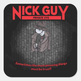 Type de Nick, détective privé Sticker Carré