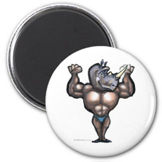 Type de rhinocéros magnet rond 8 cm