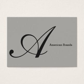 Type de Serif monogramme (variation 3) Cartes De Visite