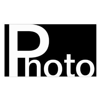 """Type énorme cartes de visite de """"photo"""" cartes de visite personnelles"""