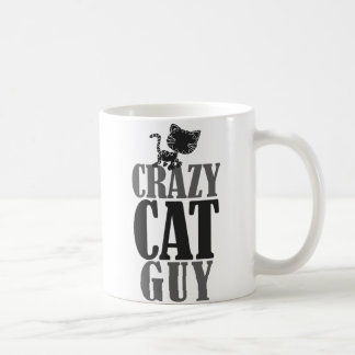 Type fou de chat mug blanc