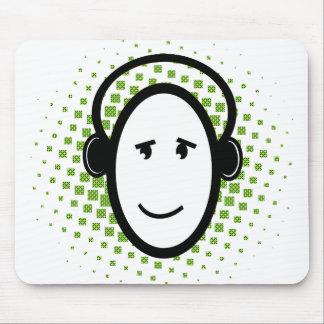 Type heureux du DJ Tapis De Souris
