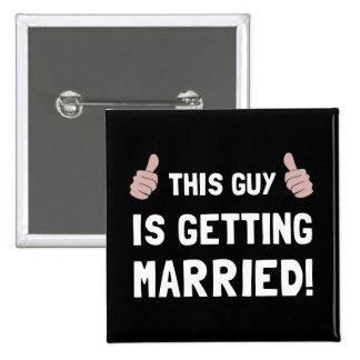 Type se mariant badge carré 5 cm