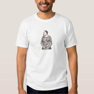 Type victorien tatoué avec la moustache t-shirt