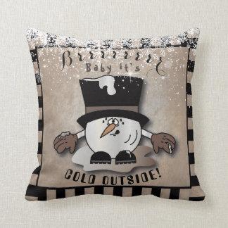 Type vintage de Snowball - Brrr bébé c'est Coussin