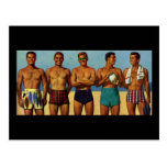 types de plage des années 1950 carte postale