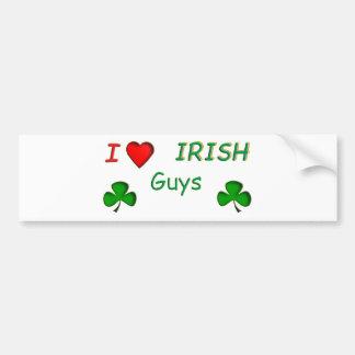 Types d'Irlandais d'amour Autocollant De Voiture