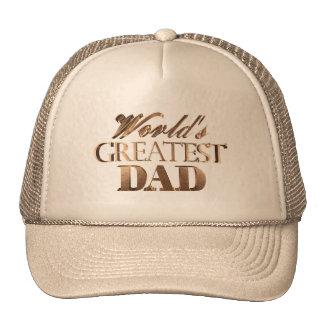 Typographie chic élégante d'or du plus grand papa casquette de camionneur
