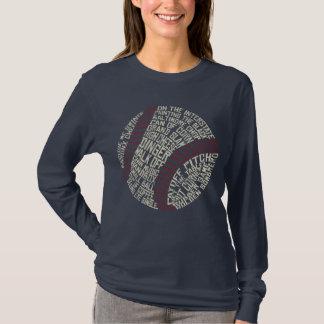 Typographie d'argot de base-ball t-shirt